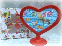 Fiesta Fun cake box and heart frame