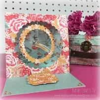 Floral Fusion easel card