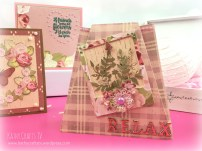 Floral Notes Trapeze card