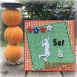 Handmade tennis themed card made using Grand Plans paper from Trimcraft