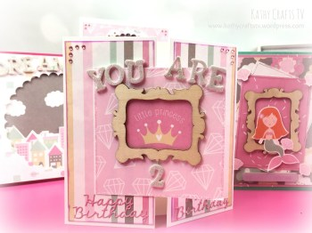 Handmade Birthday card princess