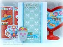 Handmade sugar skull card