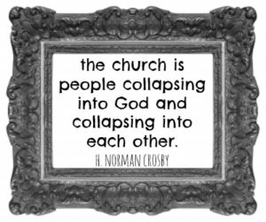 the church is people collapsing into God