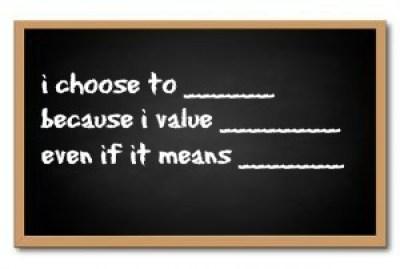 i choose to