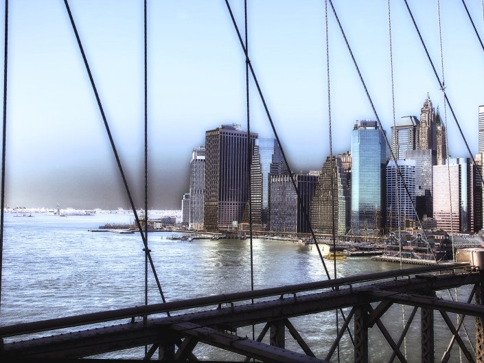 New York Skyline, New York,Brooklyn Bridge, Brooklyn, New YorkCity, New York, NYC