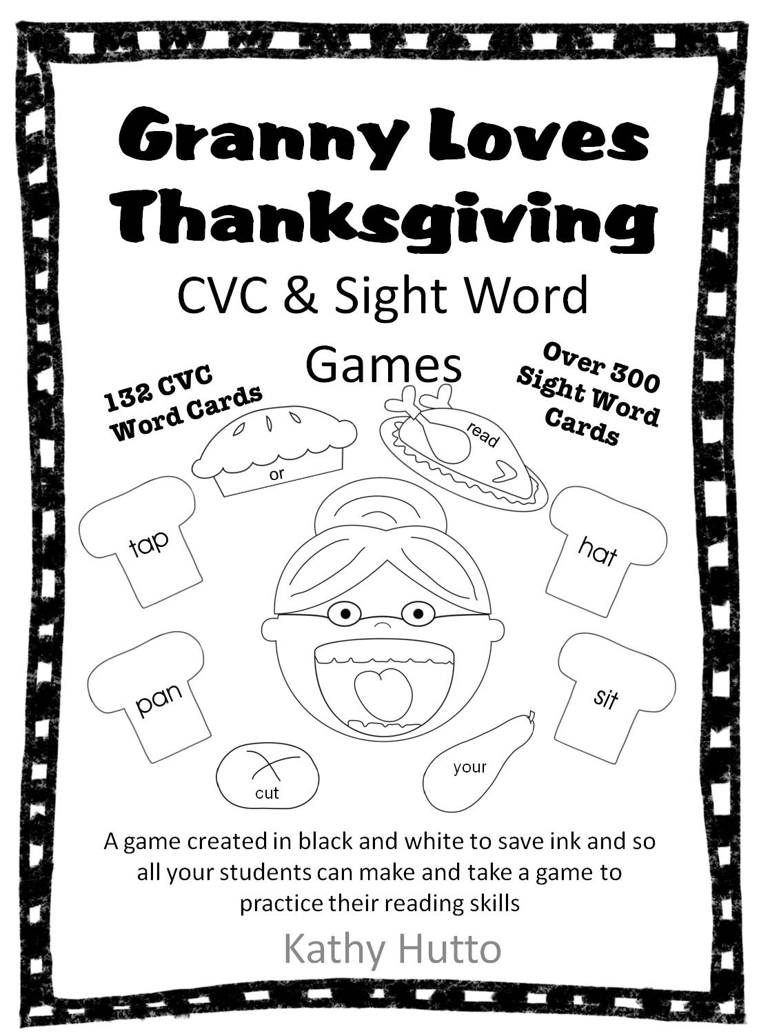 Granny Loves Thanksgiving Free Cvc And Sight Word Game