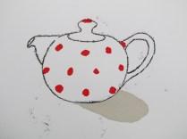 Dotty teapot (red)
