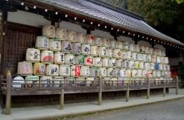 Sake Barrels brought as offerings