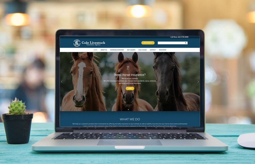 Cole Agency Livestock Insurance Website