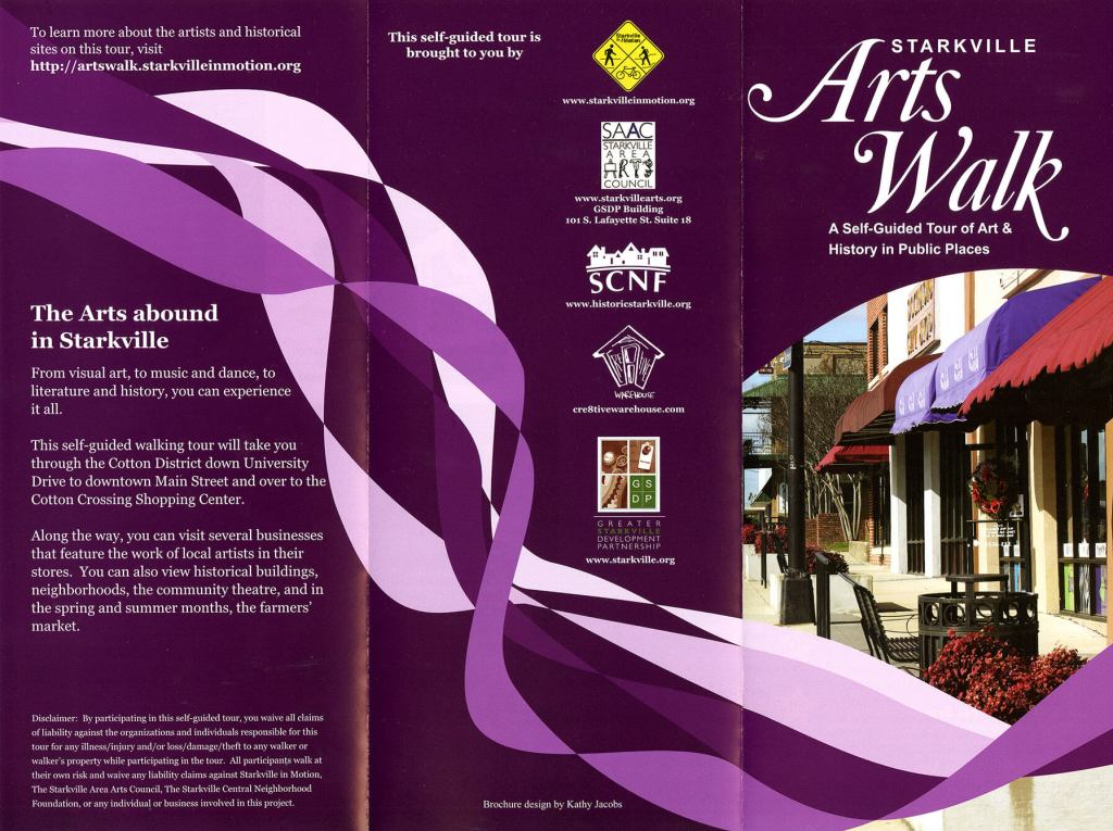 Starkville Arts Walk Brochure
