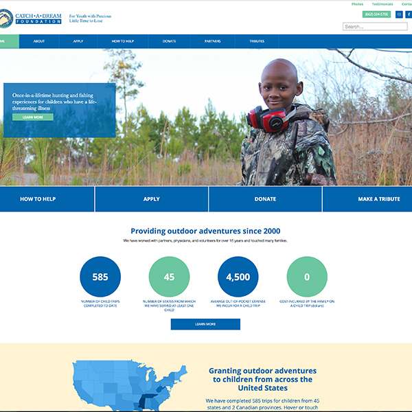 Catch-A-Dream Foundation Website