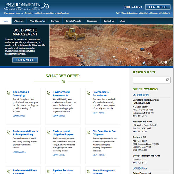 Environmental Management Services, Inc. Website