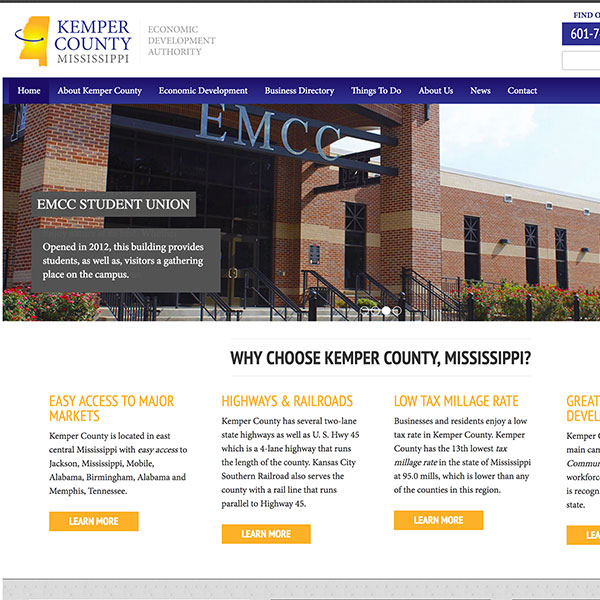Kemper County Economic Development Website