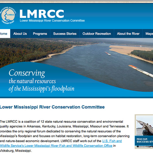 Website Design for Lower Mississippi River Conservation Committee (LMRCC)