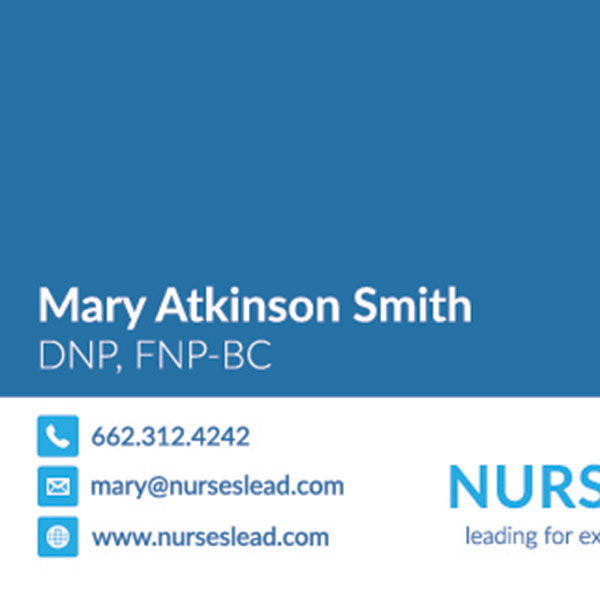 Nurses Lead Business Cards