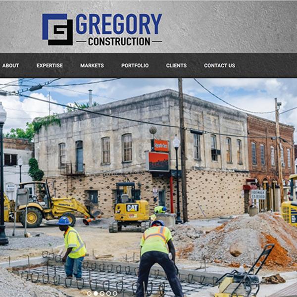 Gregory Construction Website Design