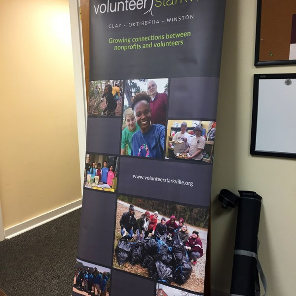 Volunteer Starkville Banner Stand Design