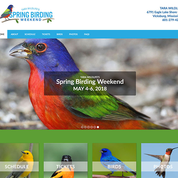 Tara Wildlife Spring Birding Weekend Event Website