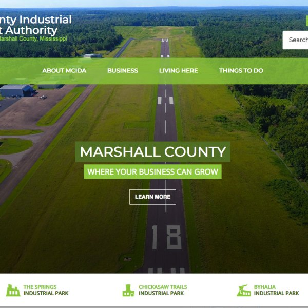 Marshall County Industrial Development Association Website
