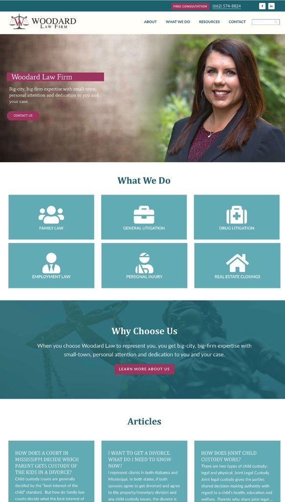 Woodard Law Firm Website Design