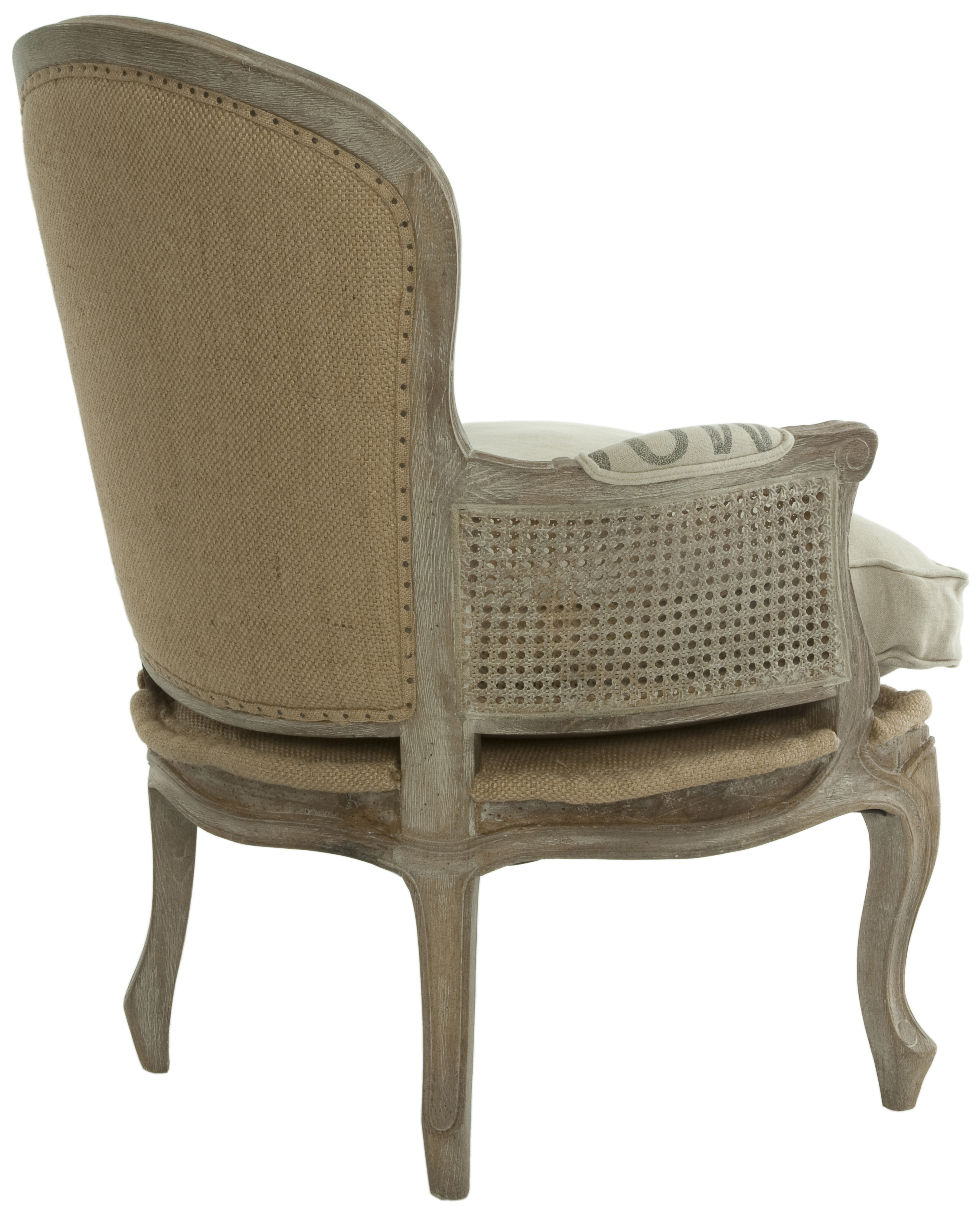 Burlap Chairs French Country Grain Sack Burlap Occasional Chair