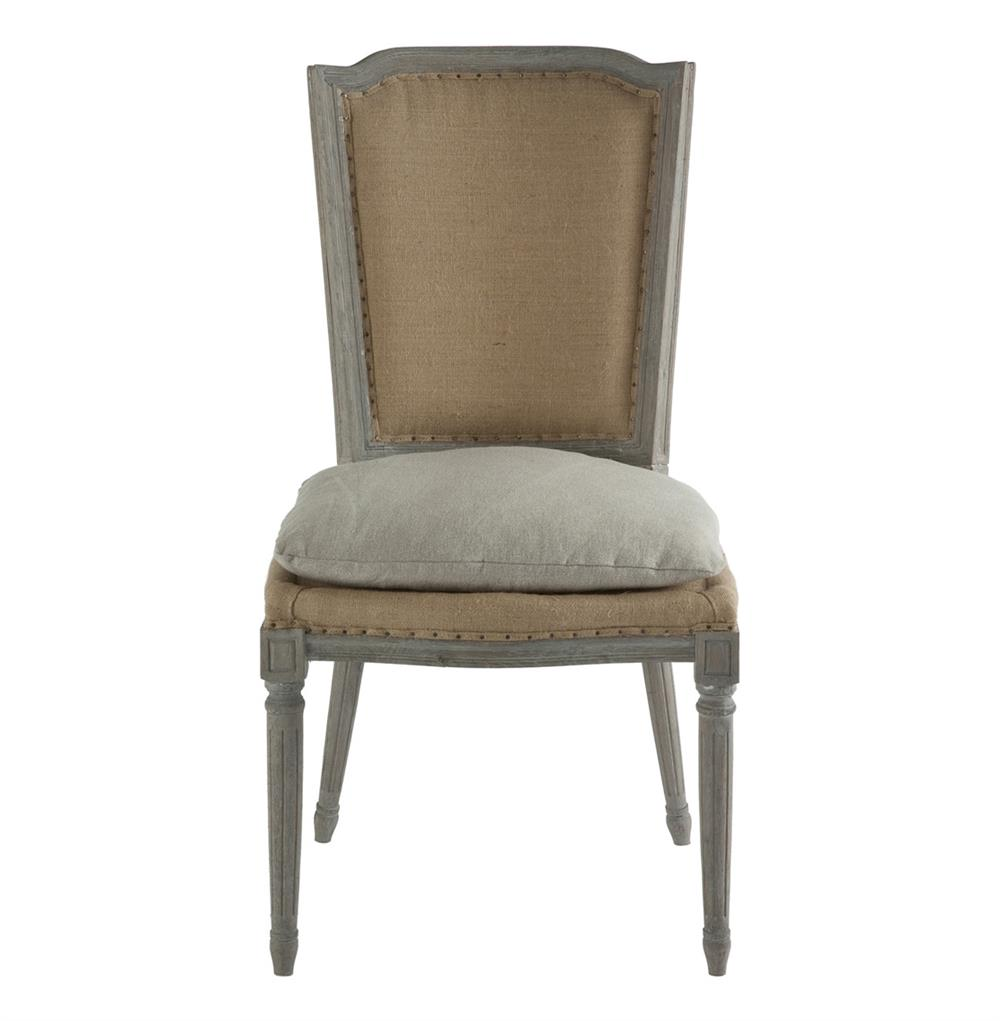 burlap chair covers for sale stressless alternative pair ethan french country rustic hemp dining with seat cushion