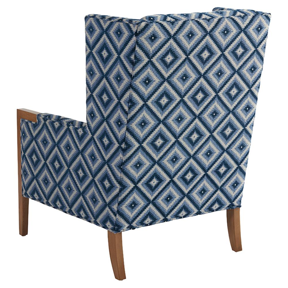 Upholstered Living Room Chairs Barclay Butera Stratton Modern Blue Diamond Pattern Upholstered Living Room Chair