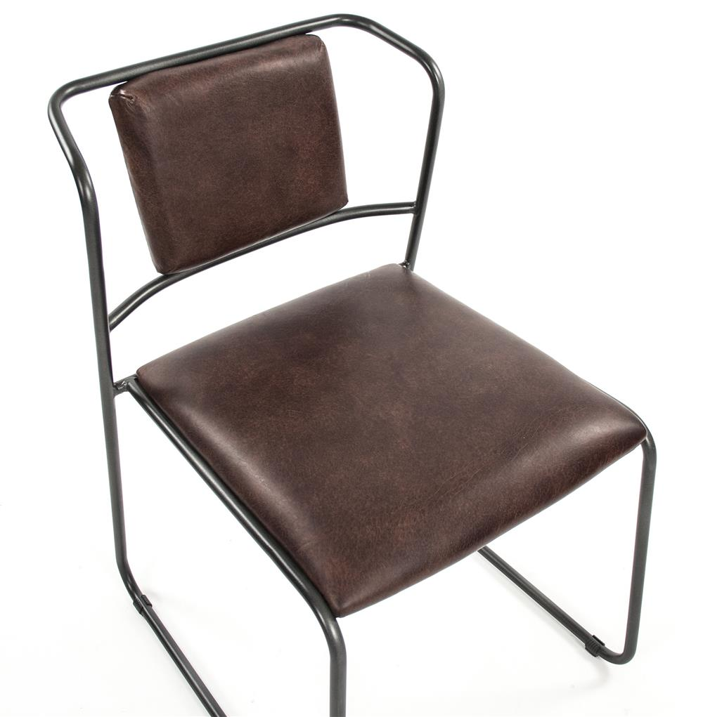 Modern Leather Chairs Artemis Mid Century Modern Industrial Rustic Iron Leather Dining Chair