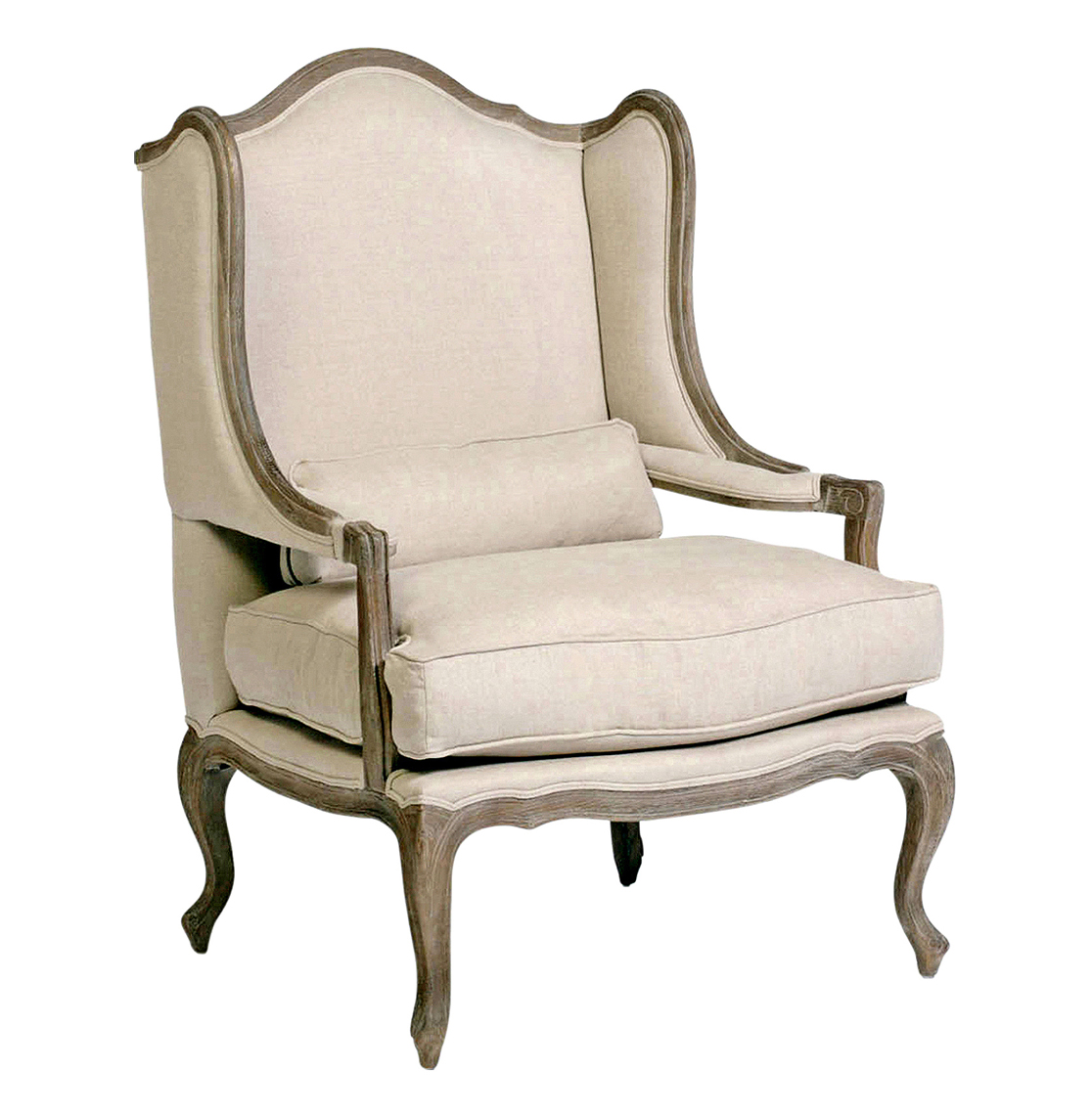Wing Chair Julien Belgian Style Wingback French Provincial Arm Chair