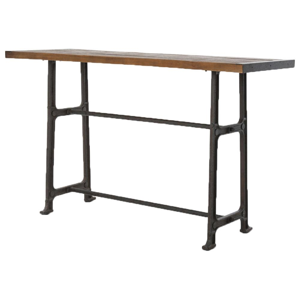 Bar Table With Chairs Wolcott Industrial Loft Iron Bleached Oak Dining Bar Table