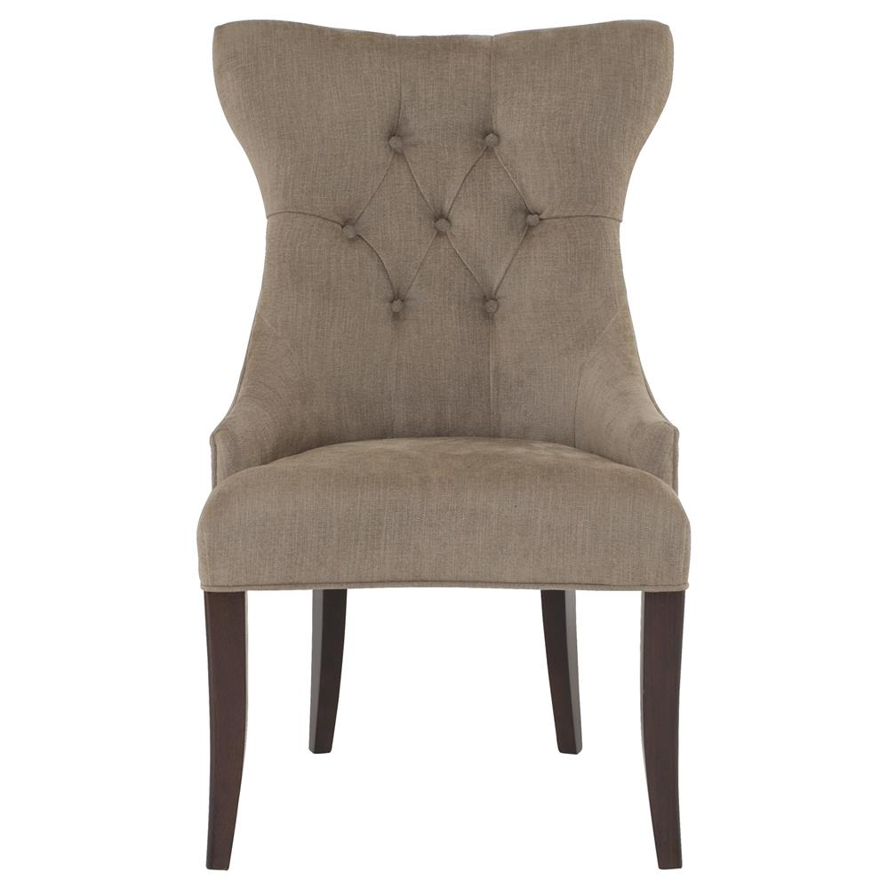 Modern Wing Chair Cherie Modern Classic Brown Tufted Wing Chair