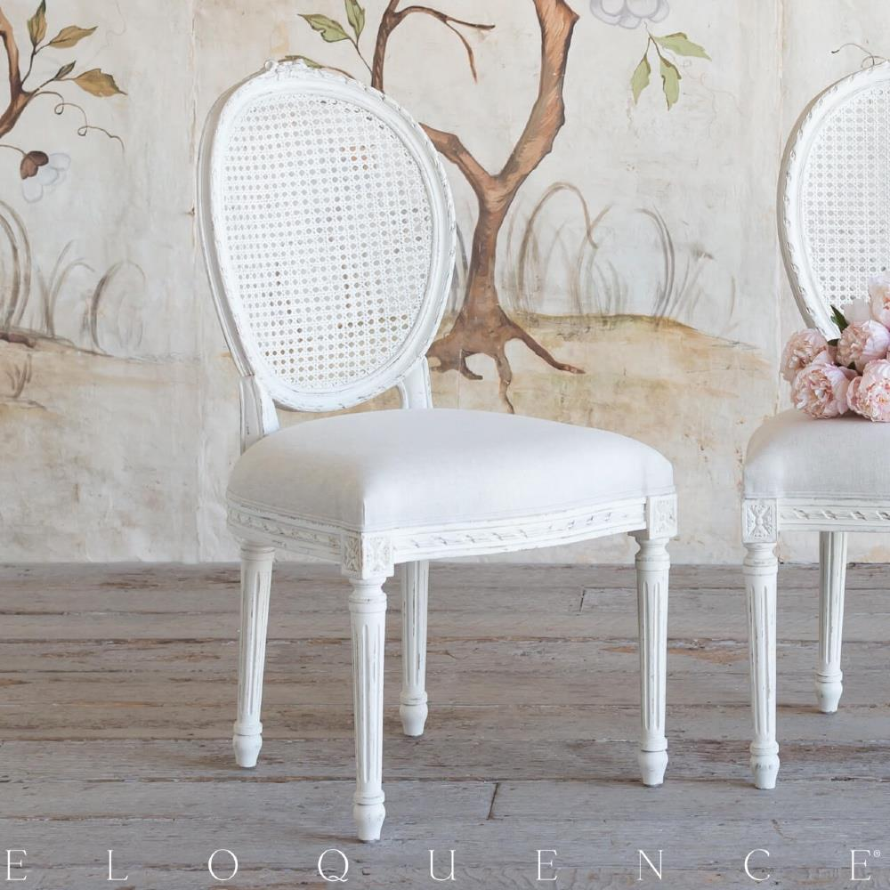 Antique White Dining Chairs Eloquence Louis Cane Dining Chair In Antique White