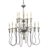 Provence French Country White and Grey Wash 12 Light ...