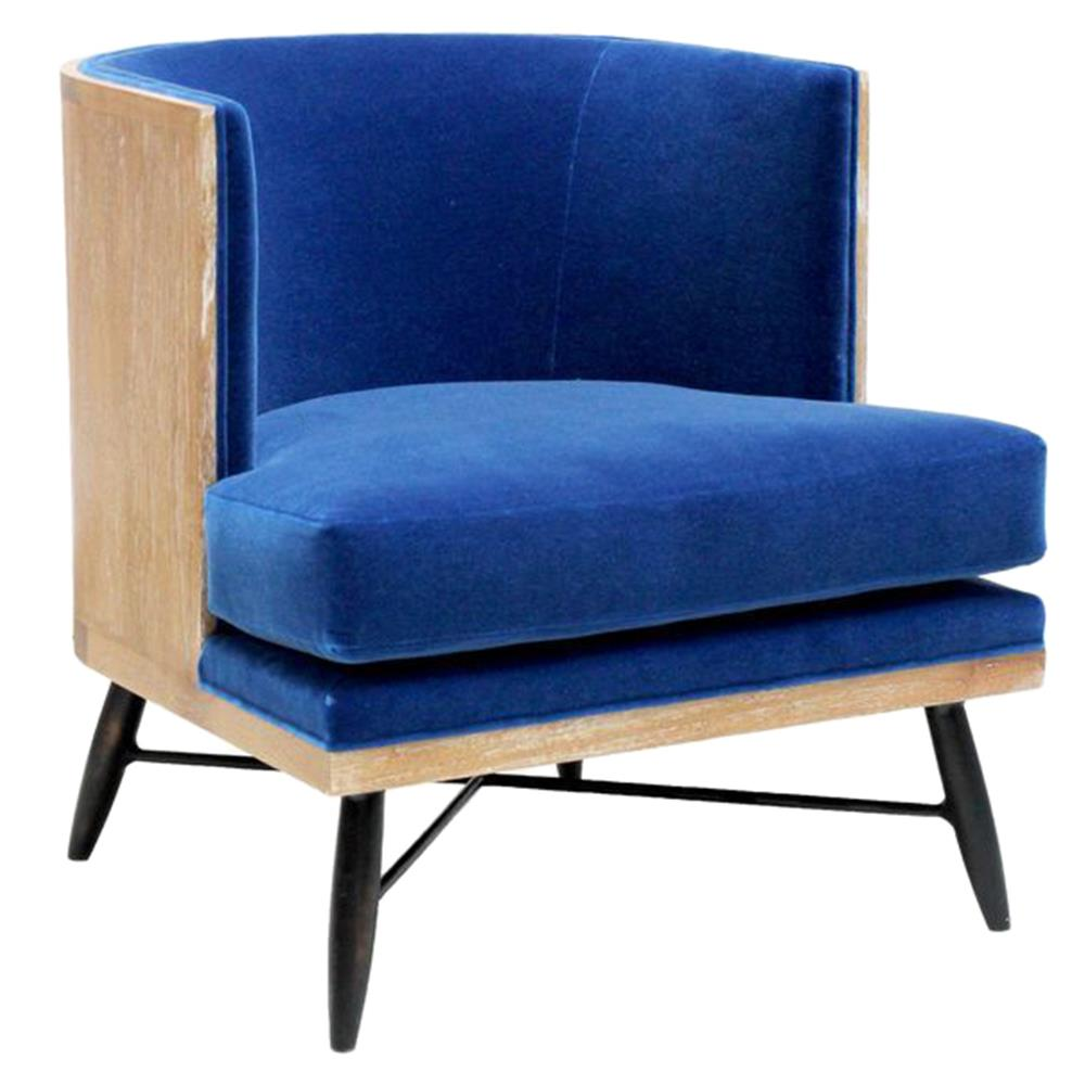 Royal Blue Chair Oly Studio Wyatt Royal Blue Mohair Lounge Chair