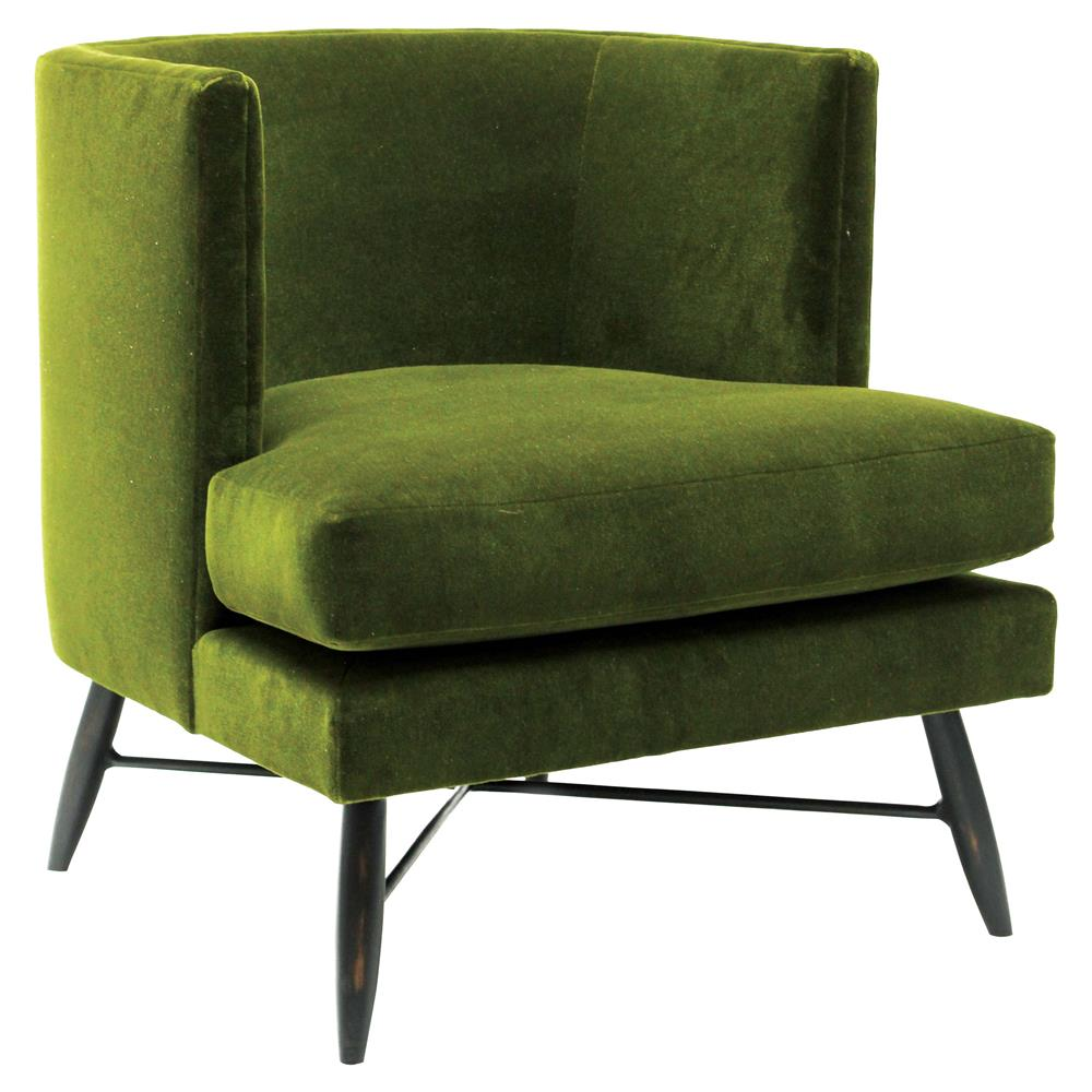 Green Upholstered Chair Oly Studio Poppy Modern Green Mohair Upholstered Bronze Metal Living Room Chair