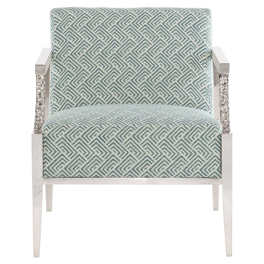 Blue Patterned Chair Rey Modern Classic Blue Patterned Upholstered Silver Living Room Arm Chair