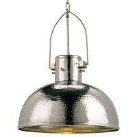 Gurnsey Industrial Hammered Nickel Dome 1 Light Pendant ...