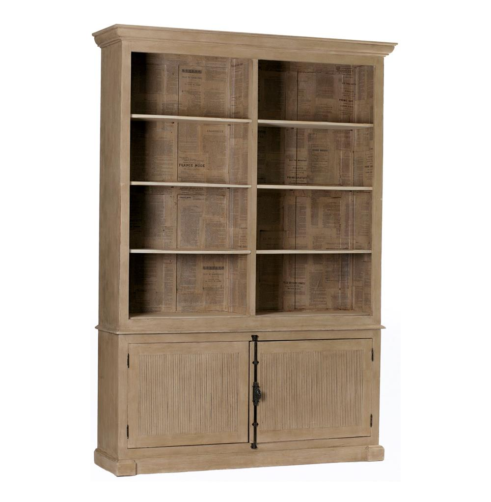 French Country Antique Newspaper Gray Wash Cabinet  Kathy