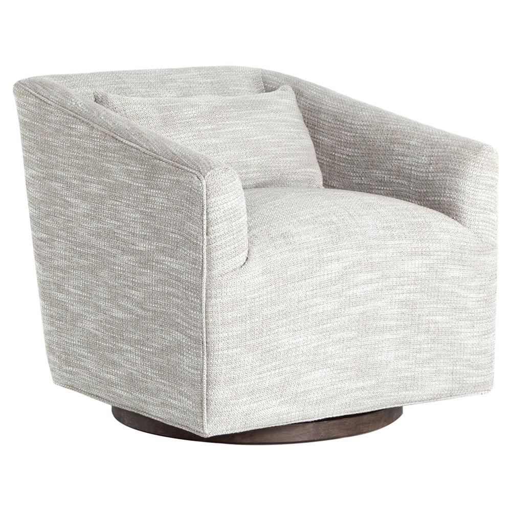 Swivel Living Room Chairs Daire Modern Grey Upholstered Square Swivel Living Room Chair
