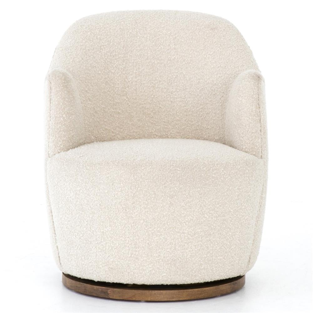 Upholstered Swivel Chairs Rich Modern Classic Cozy Off White Upholstered Swivel Base Living Room Chair