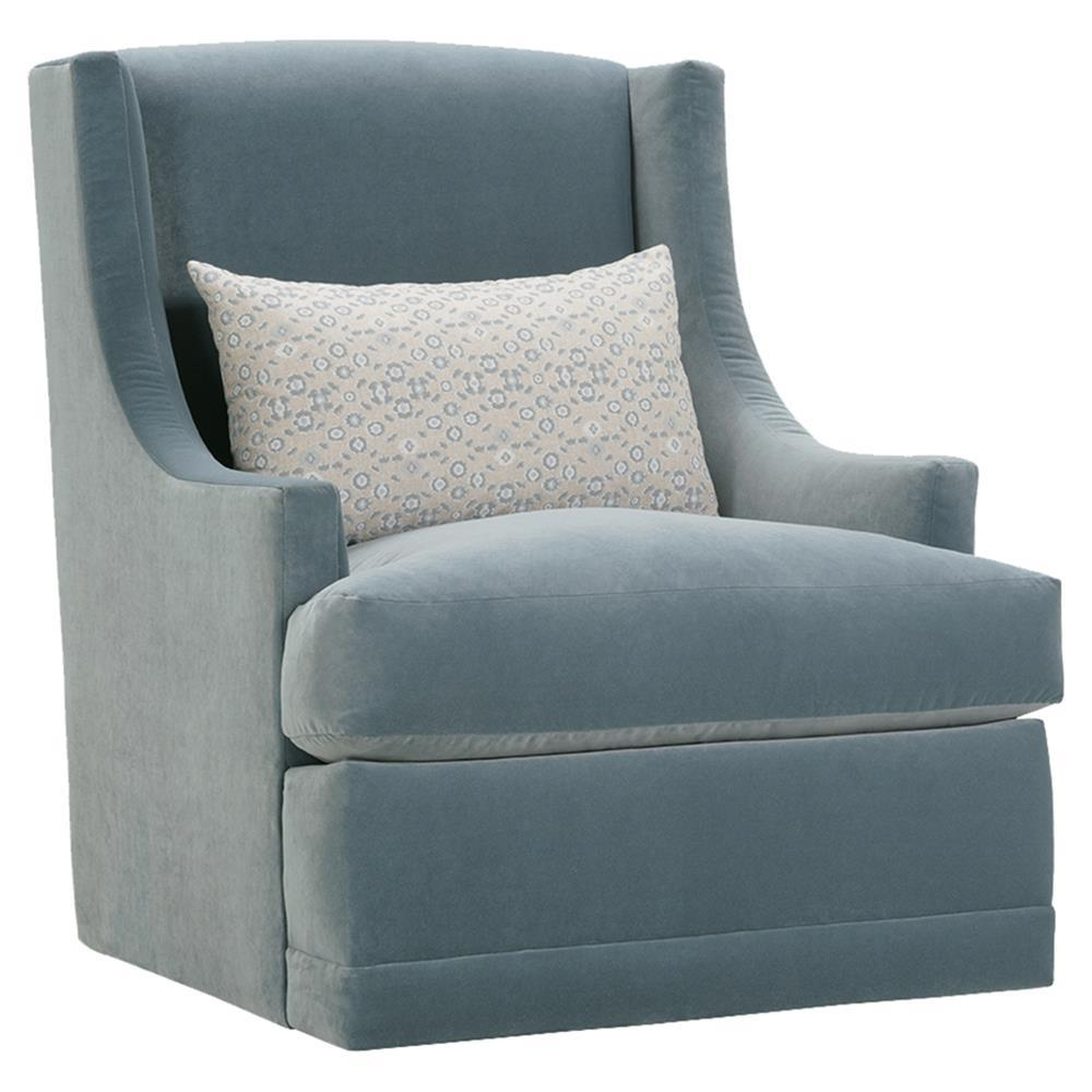 Upholstered Swivel Chairs Lottie Modern Classic Blue Upholstered Swivel Arm Chair
