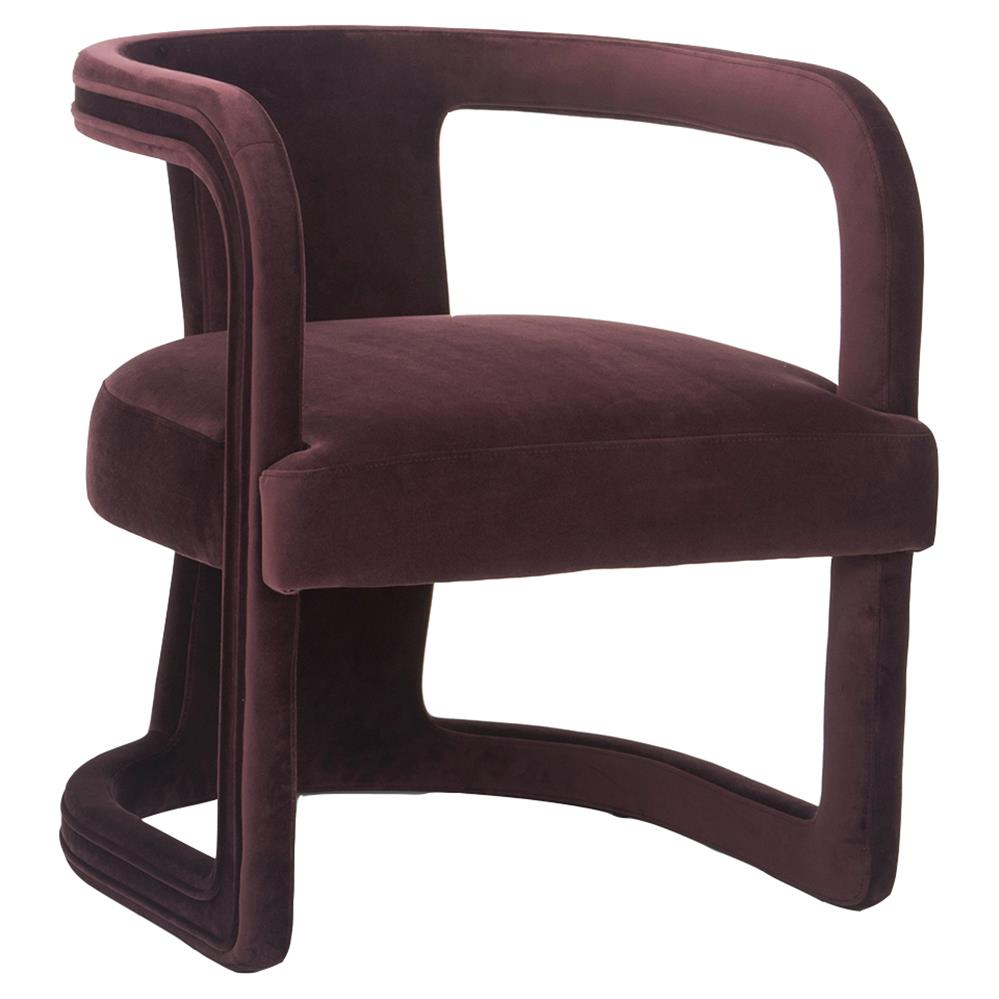 Purple Accent Chair Demy Modern Classic Upholstered Velvet Living Room Accent Chair Purple