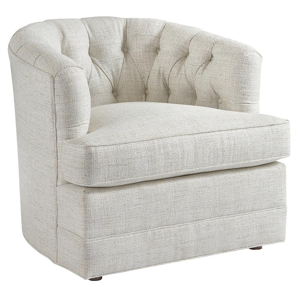 Upholstered Living Room Chairs Barclay Butera Cliffhaven Modern Tufted Ivory Upholstered Living Room Chair
