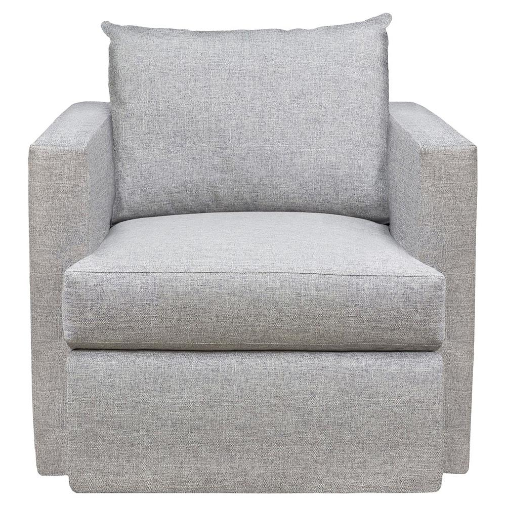 Upholstered Swivel Chairs Vanguard Emory Grey Upholstered Living Room Swivel Chair