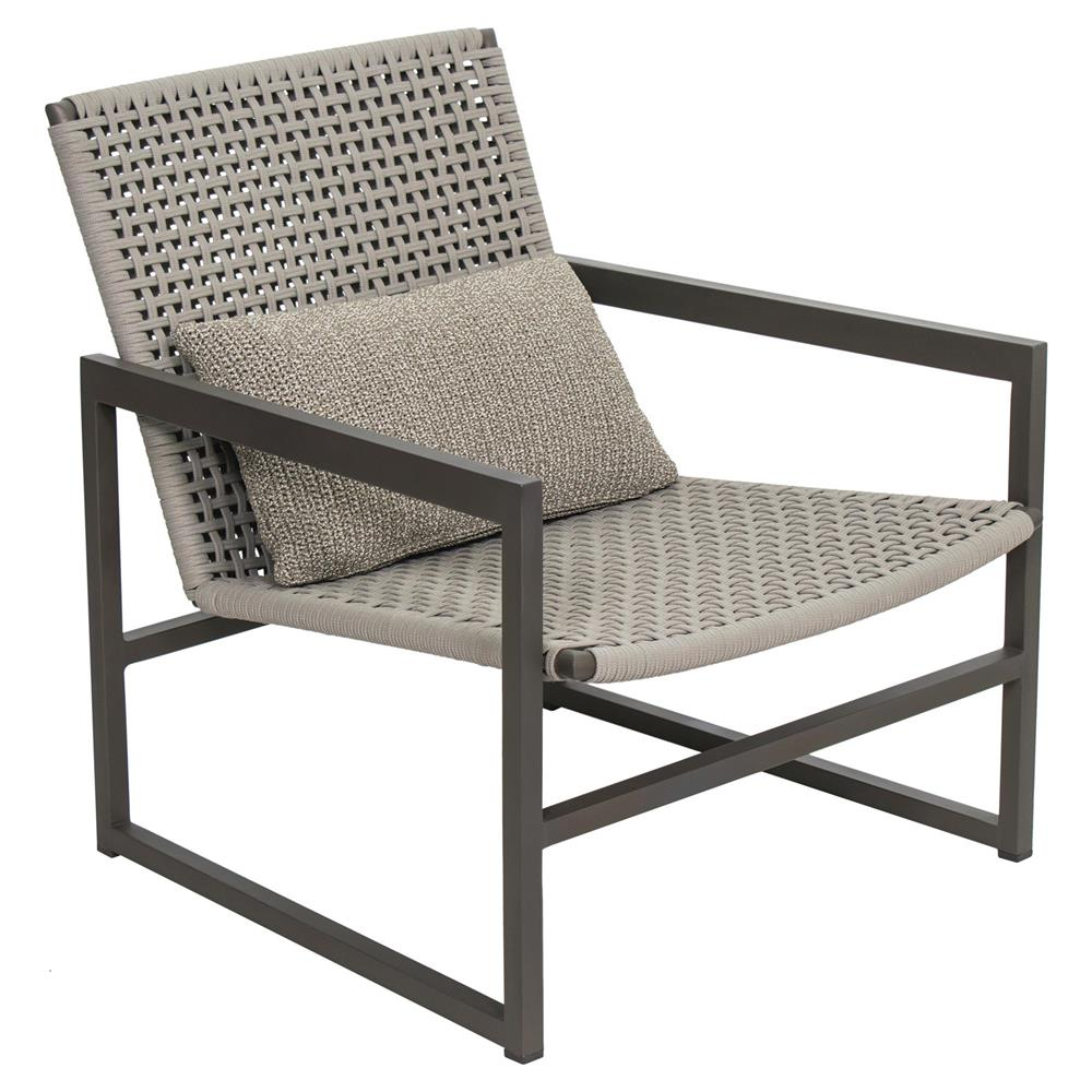 Outdoor Chair Set Tim Modern Classic Grey Woven Metal Outdoor Lounge Chair Set Of 2