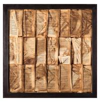 Cooking the Books Rustic Lodge Aged Books Small Wall Art