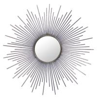 Marlie Hollywood Regency Antique Silver Sunburst Mirror ...