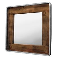 Roosevelt Rustic Lodge Reclaimed Wood Large Square Mirror ...