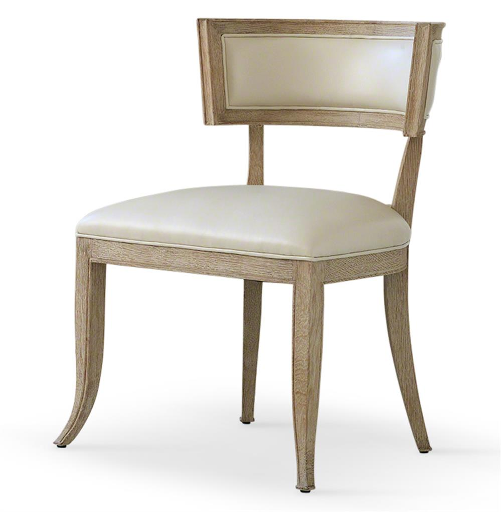 Beige Leather Dining Chairs Minnelli Hollywood Regency Ivory Leather Dining Chair