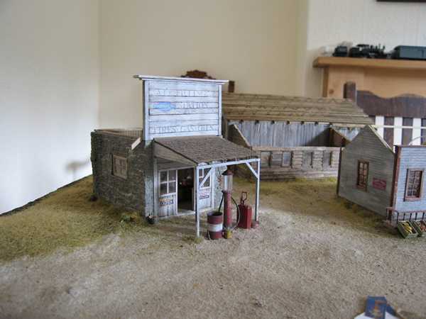 Diorama buildings installed